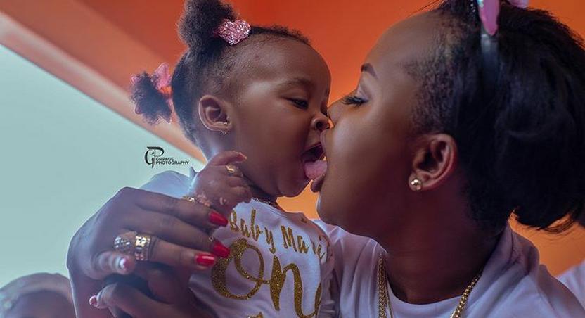 Nana Ama McBrown kisses daughter