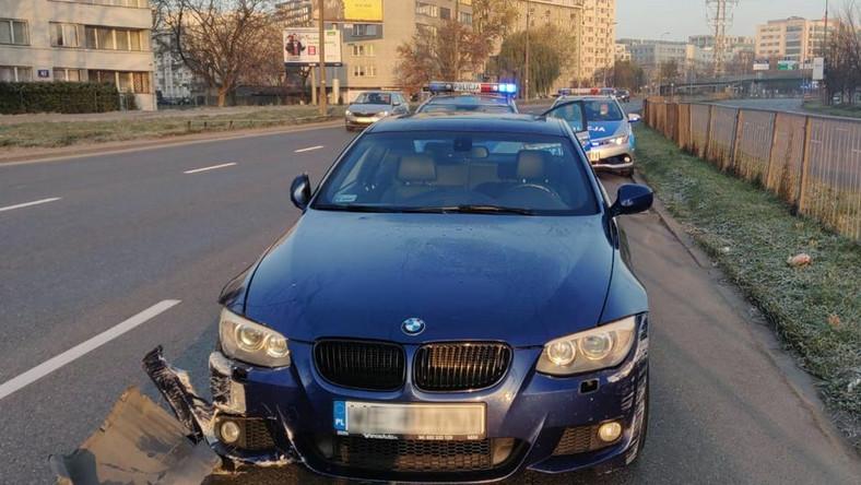 BMW zatrzymane przez policję w Warszawie