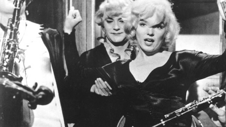"""Marilyn Monroe, Tony Curtis, Jack Lemmon - """"Pół żartem, pół serio"""""""