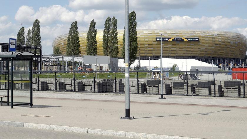 Stadion w Gdańsku.