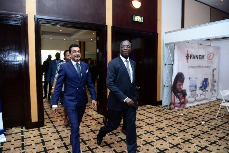Dr. Amit N. Thakker, CEO-KHF walks in with the Hon. Anastase Murekezi, Prime Minister of Rwanda for the Opening Ceremony