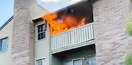 Matka wyrzuciła 3-latka z balkonu, sama zginęła w płomieniach