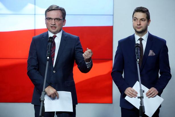 Minister sprawiedliwości Zbigniew Ziobro i wiceminister sprawiedliwości Patryk Jaki