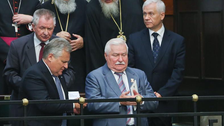 Aleksander Kwaśniewski i Lech Wałęsa