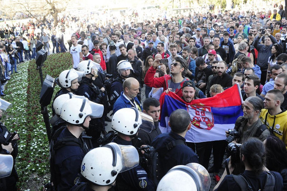 Demonstracije ispred Predsedništva