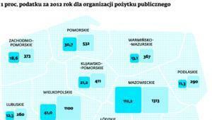 1 proc. podatku za 2012 rok dla organizacji pożytku publicznego