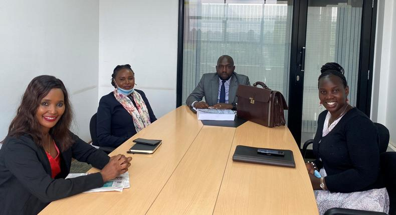Elgeyo Marakwet Kipchumba Murkomen together with Nairobi MCAs Ann Thumbi, Sylvia Museiya and Millicent Jagero