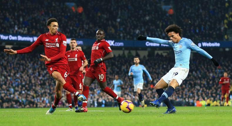 Liverpool vs Man city match at EPL 2019 season (Sports Illustrated)