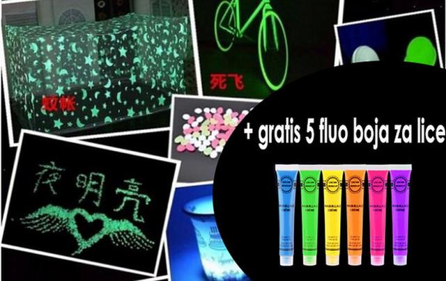 Set od pet fluorescentnih boja