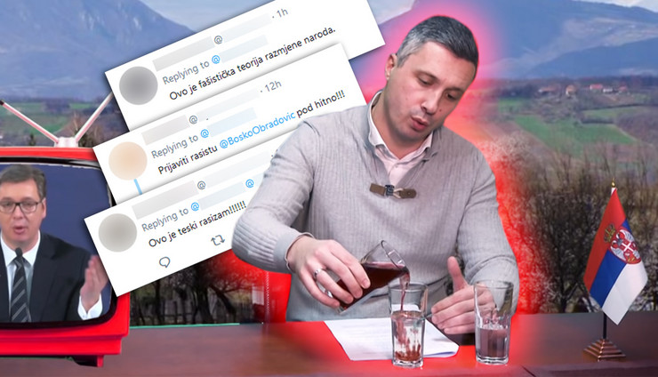 bosko rasizam RAS Youtube Srpski pokret DVERI, Twitter