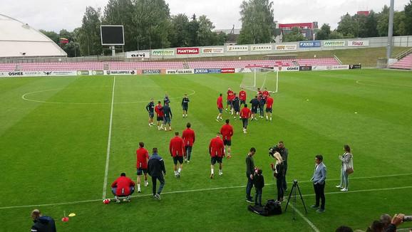 Fudbaleri Zvezde na treningu