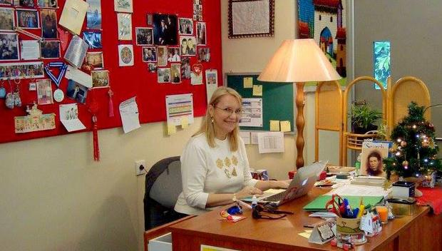 Beata Mirecka-Jakubowska w klasie