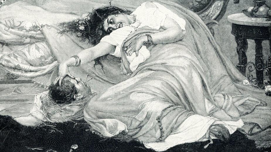 Fulwia z głową Cycerona. Obraz z 1900 r.