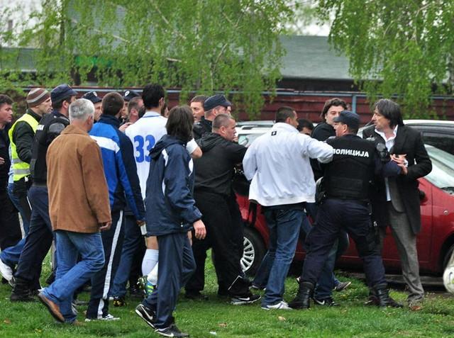 Zoran Osmajić, predsednik kulskog Hajduka, skroz desno na fotografiji