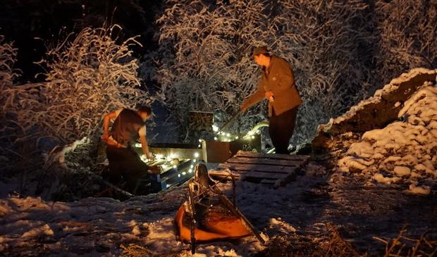 Prywatna kopalnia złota nocą. Praca wre., fot. Kamila Kielar
