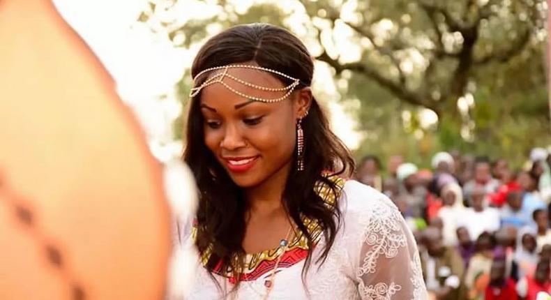 Mercy Cherono during her wedding