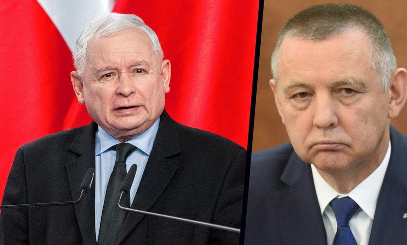 Jarosław Kaczyński i Marian Banaś.