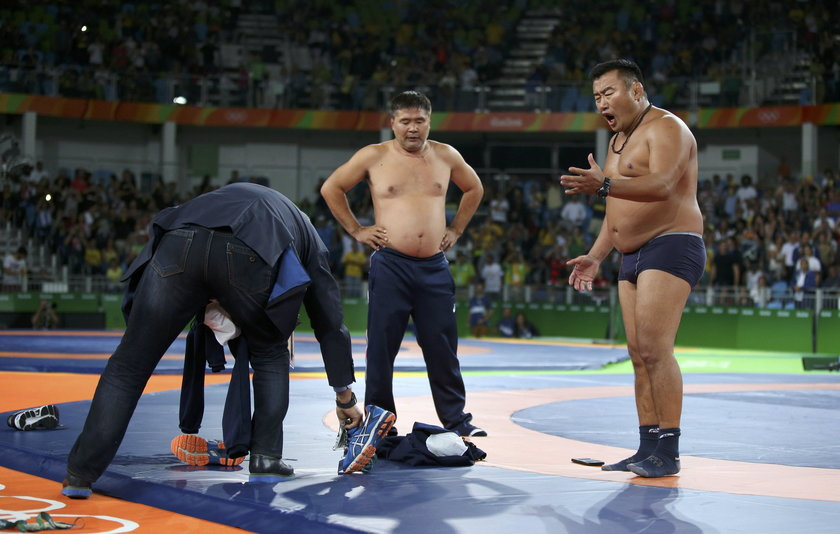 Rio 2016: Mongolscy trenerzy zawieszeni na 3 lata, bo się rozebrali