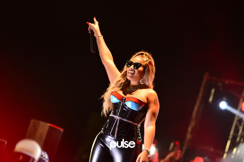 Stefflon Don at the Afrobeats Reggae Jam Rock 2019 at Landmark Event Centre, Lagos, Nigeria. (Pulse Nigeria)