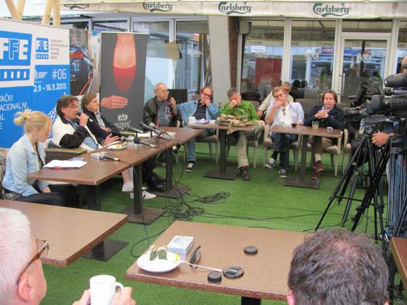 Reditelji na zajedničkoj konferenciju u okviru Filmskog festivala u Leskovcu