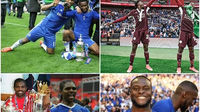 Following Wilfred Ndidi and Kelechi Iheanacho's appearances on Saturday, who are the other Nigerian players that have played in the FA Cup final?