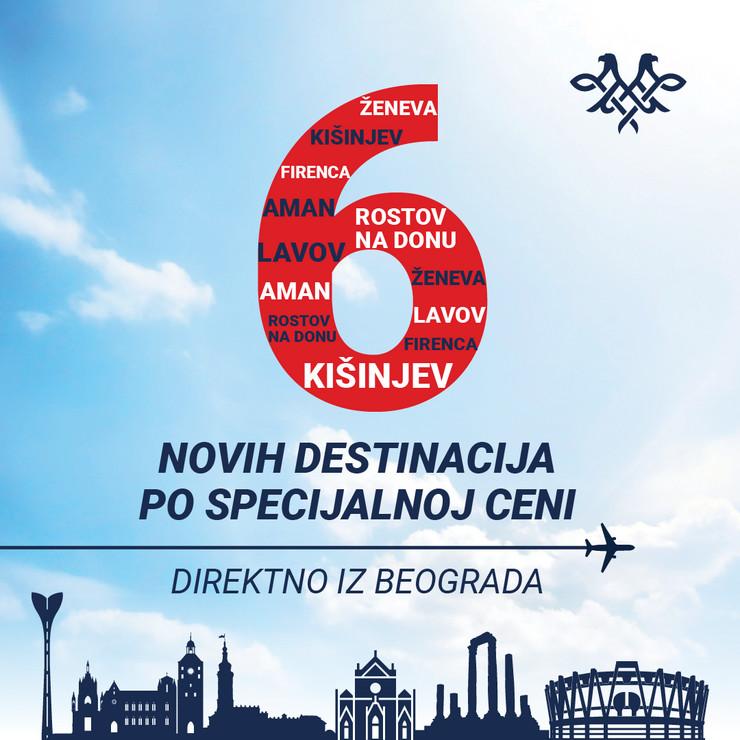 Er Srbija 6 novih destinacija
