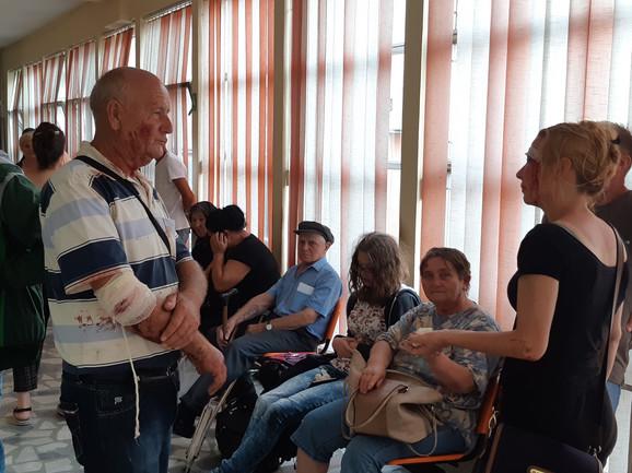 Povređeni su zbrinuti u leskovačkoj Opštoj bolnici