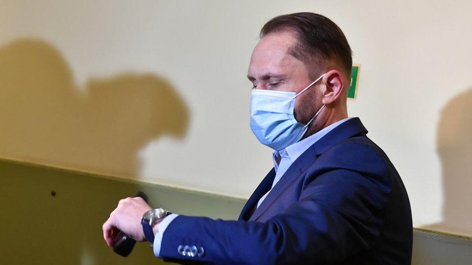 Kamil Durczok w sądzie w Piotrkowie Trybunalskim