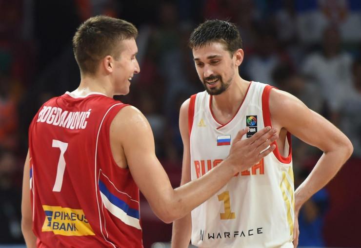 Košarkaška reprezentacija Srbije, Rusije, Košarkaši Srbije