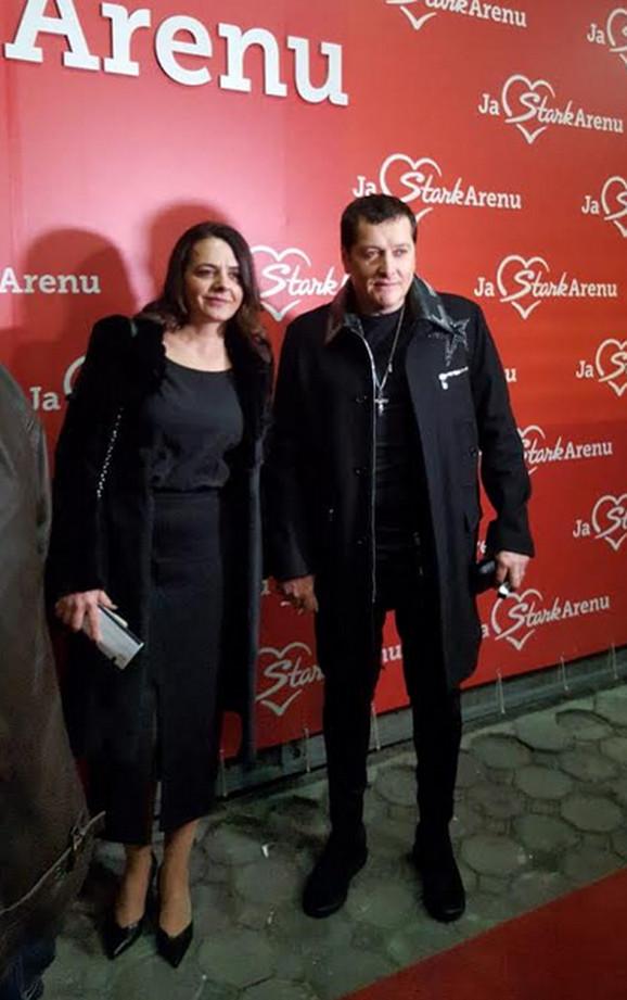 Aco Pejović sa ženom