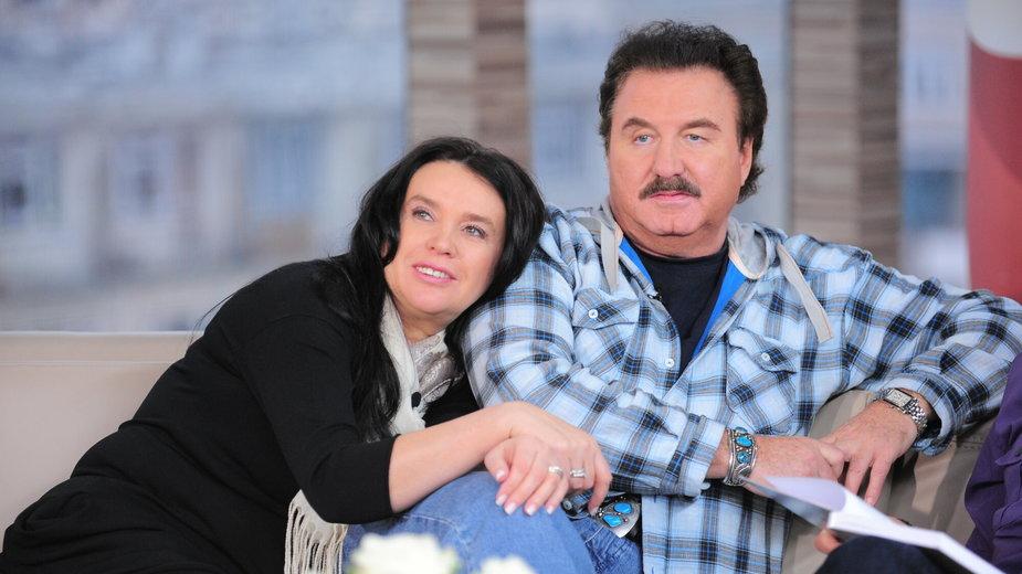 """Ewa Krawczyk i Krzysztof Krawczyk w programie """"Dzień dobry TVN"""" w 2010 r."""