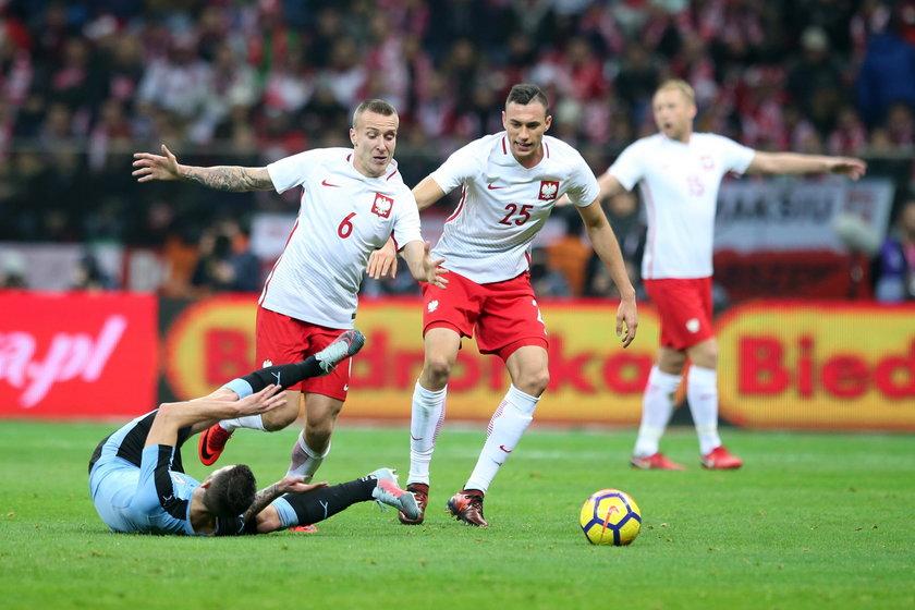 Pilka nozna. Reprezentacja. Mecz towarzyski. Polska - Urugwaj. 10.11.2017