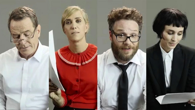 Bryan Cranston, Kristen Wiig, Seth Rogen i Rooney Mara biorą na warsztat Drake'a
