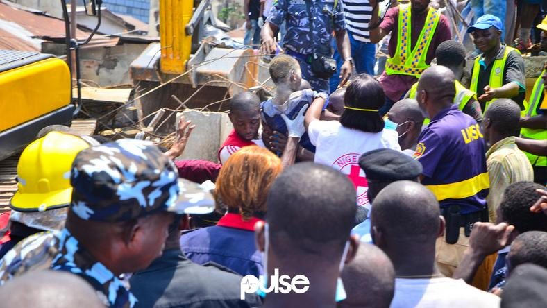 The collapsed building housed a nursery and primary school that had at least 100 pupils on its register
