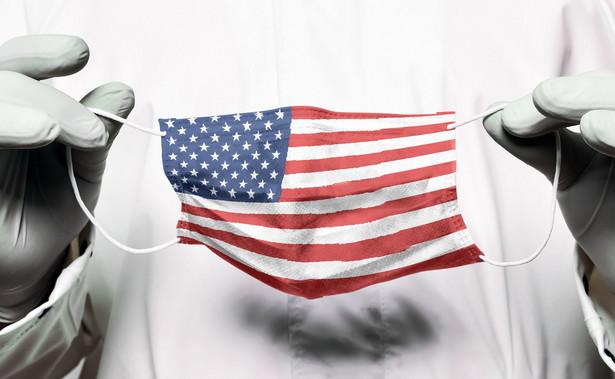Maseczka z flagą USA