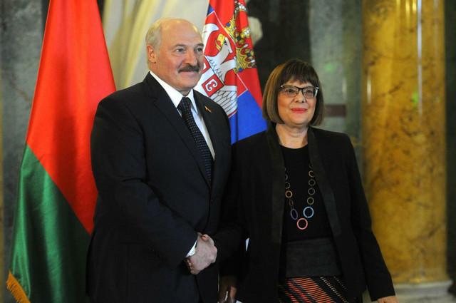 Maja Gojković i Aleksandar Lukašenko