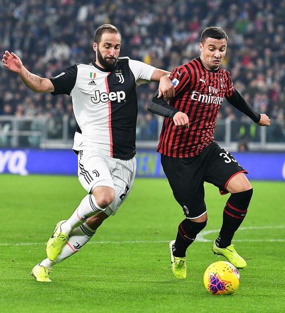 Detalj sa meča Juventus - Milan