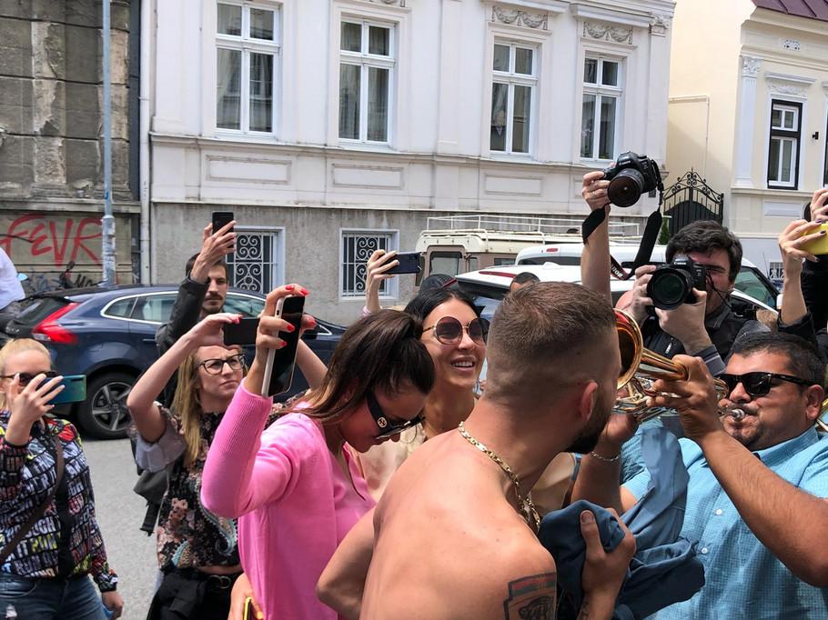 Veljko Ražnatović sa trubačima