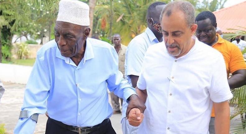 Suleiman Shahbal with Former Likoni MP Khalif Salim