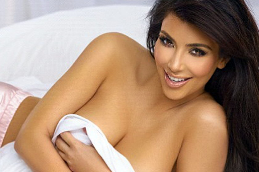 Kim Kardashian w pościeli