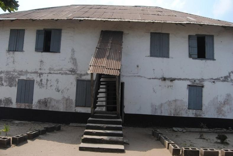 The back view of the first storey building in Nigeria, at Badagry.