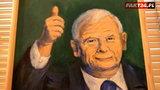 Namalowali portrety Kaczyńskiego. Reakcja działaczy PiS?