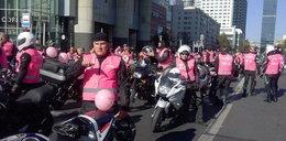Różowi motocykliści w walce z rakiem