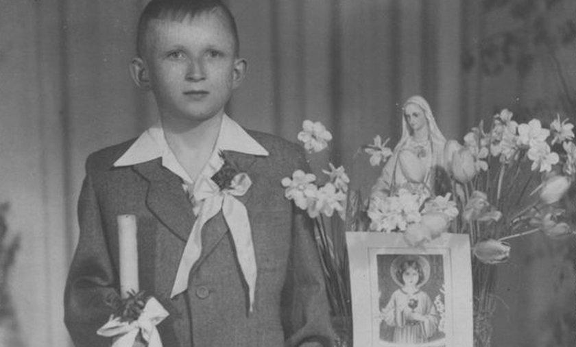 Józef Oleksy pierwsza komunia.