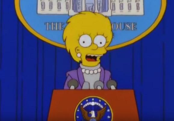 Lisa simpson kao predsednica SAD