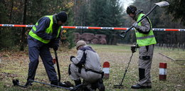 Ludzkie szczątki na parkingu w lesie w Treblince