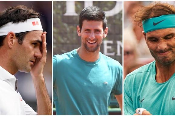 IZGLEDA DA JE SVE GOTOVO, NAVIJAČI FEDERERA I NADALA BESNI Neočekivan potez, ATP stavio Novaka na PRVO mesto legendi tenisa /FOTO/