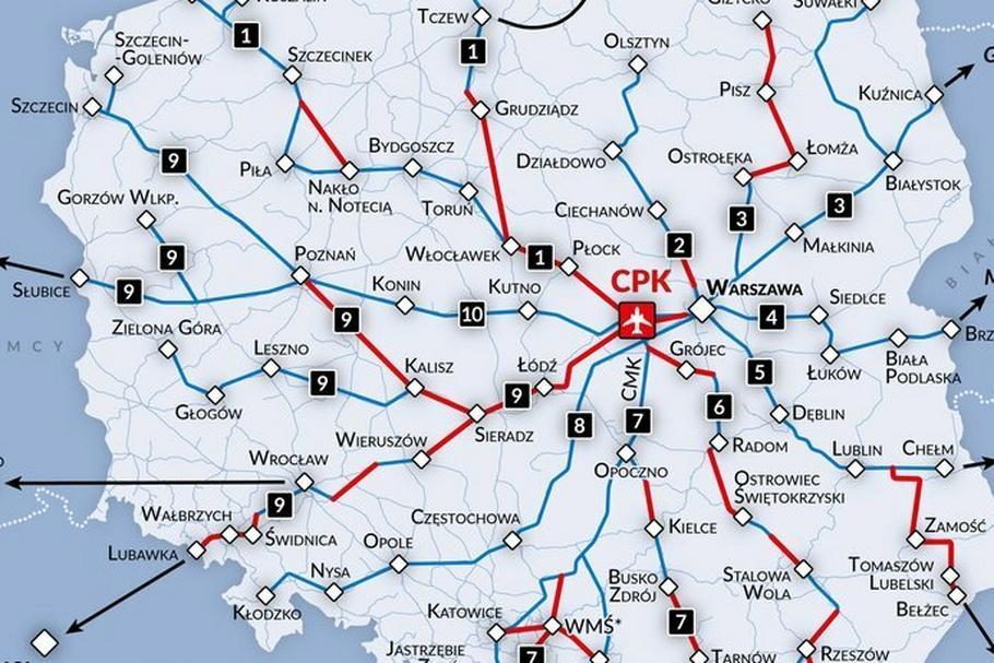W pierwszej kolejności powstanie nowa linia Warszawa-Łódź