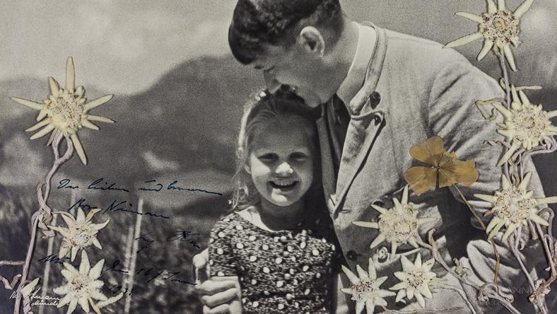 Hitler omfavner en jødisk jente