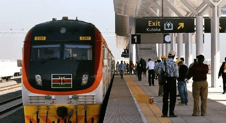 File image of commuters at an SGR terminus. Police have arrested 7 employees at the SGR in a new ticketing scandal